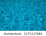 pure pool water background with ... | Shutterstock . vector #1171117681