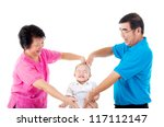 grandparent playing with their... | Shutterstock . vector #117112147