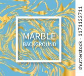 blue and gold marble texture... | Shutterstock .eps vector #1171123711