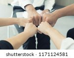 hand partnership business team... | Shutterstock . vector #1171124581