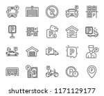 parking line icons. set of... | Shutterstock .eps vector #1171129177