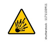 yellow triangle explosive sign. ... | Shutterstock .eps vector #1171133911