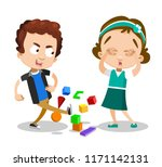vector illustration of sister... | Shutterstock .eps vector #1171142131