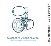 camcorder. hand drawn video... | Shutterstock .eps vector #1171144957