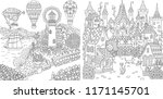 coloring pages. coloring book... | Shutterstock .eps vector #1171145701