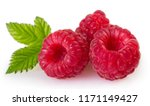 fresh raspberry isolated on... | Shutterstock . vector #1171149427