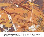 ink handmade painting. abstract ... | Shutterstock . vector #1171163794