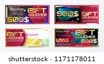 gift voucher gold template... | Shutterstock .eps vector #1171178011