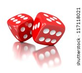 3d Game Dices Isolated On Whit...