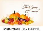 happy thanksgiving background... | Shutterstock .eps vector #1171181941
