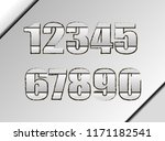 gray numbers on an isolated... | Shutterstock .eps vector #1171182541