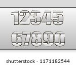 gray numbers on an isolated... | Shutterstock .eps vector #1171182544