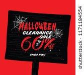 halloween clearance sale vol.2... | Shutterstock .eps vector #1171184554