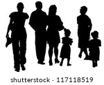 vector drawing parents and... | Shutterstock .eps vector #117118519
