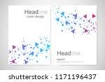 scientific brochure design... | Shutterstock .eps vector #1171196437
