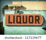 Aged And Worn Vintage Liquor...