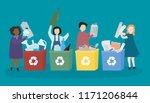 students learning about various ...   Shutterstock .eps vector #1171206844