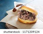 Bbq Brisket Sandwich On A...