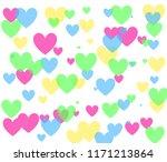 Heart Shape Pink  Green  Blue ...