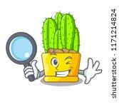 detective cereus cactus bouquet ... | Shutterstock .eps vector #1171214824