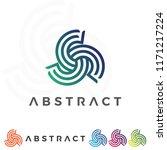 abstract vector business logo... | Shutterstock .eps vector #1171217224