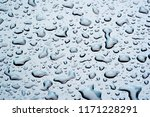 summer rain  drops of water on... | Shutterstock . vector #1171228291