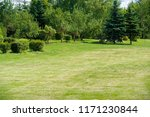 urban photography  a lawn is an ... | Shutterstock . vector #1171230844