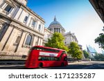 st pauls cathedral with sun... | Shutterstock . vector #1171235287