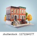 unusual 3d illustration of... | Shutterstock . vector #1171264177