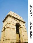 War memorial, India Gate, New Delhi, India - stock photo