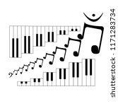 sexy quaver music note art | Shutterstock .eps vector #1171283734