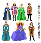fairy tale characters | Shutterstock .eps vector #117128431