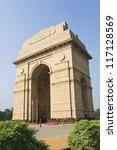 India Gate, New Delhi, India - stock photo