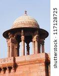 High section view of a government building, Rashtrapati Bhavan, New Delhi, India - stock photo
