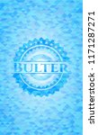 bulter light blue emblem with... | Shutterstock .eps vector #1171287271