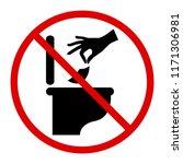 do not litter in toilet icon.... | Shutterstock .eps vector #1171306981