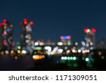 urban city night light blur... | Shutterstock . vector #1171309051