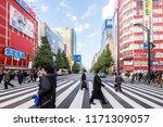 tokyo  japan   november 10 ... | Shutterstock . vector #1171309057