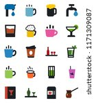 color and black flat icon set   ... | Shutterstock .eps vector #1171309087