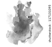 abstract black water color art...   Shutterstock . vector #117131095