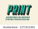 offset print style modern font... | Shutterstock .eps vector #1171311301