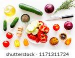 healthy food concept.... | Shutterstock . vector #1171311724