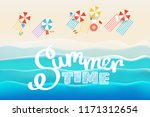 summer time concept. sandy... | Shutterstock .eps vector #1171312654