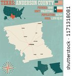 detailed map of anderson county ... | Shutterstock .eps vector #1171318081