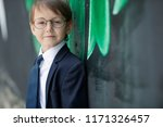 child with glasses   | Shutterstock . vector #1171326457
