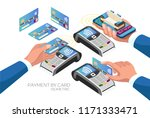 set of payment options by card... | Shutterstock .eps vector #1171333471