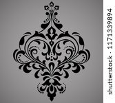 damask graphic ornament. floral ... | Shutterstock .eps vector #1171339894