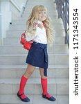child fashion school  | Shutterstock . vector #1171343554