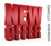 3d new offer | Shutterstock . vector #117134401