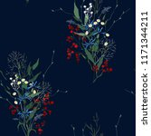trendy floral pattern. isolated ... | Shutterstock .eps vector #1171344211
